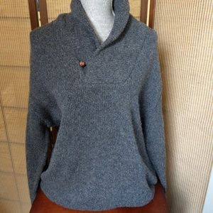 LL BEAN XL MENS GREY SWEATER